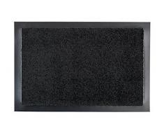 Selena Fussmatte - Türmatte - Schmutzabstreifer - Haustürmatte - Fussabtreter - Sauberlauf, schwarz, 40 x 60 cm