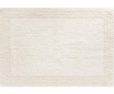 GRUND Linea Due beidseitig verwendbar Badematte 100% Baumwolle, Ultra Soft und saugfähig, Badteppich, ÖKO-TEX-Zertifiziert, 5 Jahre Garantie, Primo, Badteppiche 60x90 cm, Natur