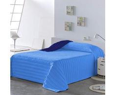 PETTI Artigiani Italiani Tagesdecken, Blau, Bettgröße 140 (240x260 cm)