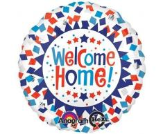 Anagram 26756 Welcome Home Konfetti Folienballon, 45,7 cm, mehrfarbig