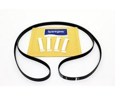 Wäschetrockner Drum Gürtel und Kugellager Pads kompatibel mit Beko DRCS68S DRVS62S DRCS68 W DRVS62 W DRCS62S von sparegetti®
