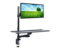 Maclean MC-681 Tischhalterung Monitor Tastatur Maus Standfuß Höhenverstellbar Halterung Halter 13 - 27 LED LCD Plasma