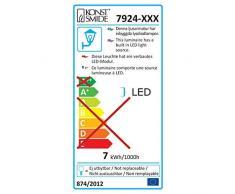 Gnosjö Konstsmide Außenleuchte, Sanremo, grau, 14 x 11 x 14 cm, 3 ml, 7924-310