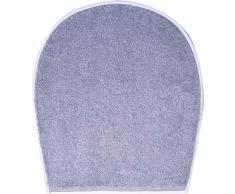 Grund Badteppich 100% Polyacryl, ultra soft, rutschfest, ÖKO-TEX-zertifiziert, 5 Jahre Garantie, DUNA, WC-Deckelbezug 47x50 cm, grau