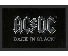 empireposter AC/DC Back In Black - Fußmatte, Größe: 60 x 40 cm, Material Polypropylen