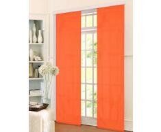 Gardinenbox Schiebevorhang Flächenvorhang Mikrofaser Blickdicht matt 245x60, Orange