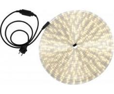 Globo Lichtschlauch mit 1.5 m Zuleitung und Stecker in schwarz inklusiv 24 LEDs je Laufmeter, 18 m, warmweiß 38982