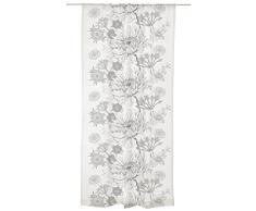 Vallila CT002137-8 Verano Batist Vorhang, Polyester, grau, 140 x 240 cm