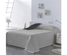 PETTI Artigiani Italiani Tagesdecken, Grau, Bettgröße 90 (150x260 cm)