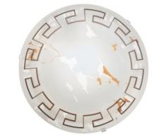 EGLO TWISTER Wand- / Deckenleuchte, Stahl, E27, 60 W, Ø 25 cm, weiss