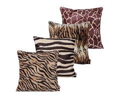 Queenie – 4 PCS Überwurf, Webpelz Kissenbezüge Kissenbezug für Sofa Kissen Fall erhältlich in 5 Farben und 6 verschiedenen Größen, baumwolle, Bundle Set A of 4, 24 x 24 inch (60 x 60 cm)
