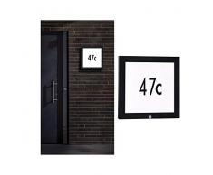 Paulmann 94255 Outdoor Panel LED Außenleuchte eckig incl. 1x10 Watt Anthrazit Aluminium 3000 K Warmweiß, 10 W