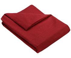 Zebra Textil 21681 Sofaüberwürf Beret 3-Sitzer, rot