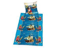 Herding 4400501050521 Playmobil Bettwäsche, Baumwolle, blau, 135 x 200 cm