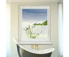 Graz Design 980088_90x57 Fensterdekor Milchglasfolie Sichtschutz Folie Badezimmer Kröte (Größe=90x57cm)