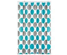 Kela LAMARA Vorhang für die Dusche, Vinyl, Türkis, 180x 200cm
