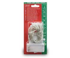 Konstsmide 1408-453LED Lichterkette / für Innen (IP20) / Batteriebetrieben: 2xAA 1.5V (exkl.) / mit Schalter und 6h Timer / 20 purpure Dioden / transparentes Kabel