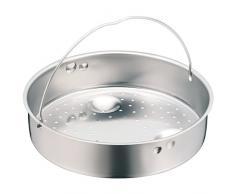 WMF Schnellkochtopf-Zubehör, Dampfer-Einsatz 5,8 cm, gelocht, für Schnellkochtopfe, 20 cm, Cromargan Edelstahl, spülmaschinengeeignet