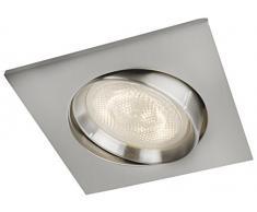 Philips Lighting Philips myLiving Einbauspot Galileo Warmglow 5908117P0, 500lm, Nickel, Metall, Integriert, 4.5 W, 9.1 x 9.1 x 15.8 cm
