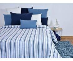MI CASA Tagesdecke, Baumwolle, Blau, 240 x 265 (135 cm)