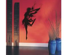 Indigos WG10416-80 Wandtattoo w416 Sexy Engel Fee tanzt Ballett Wandaufkleber 80 x 43 cm, braun