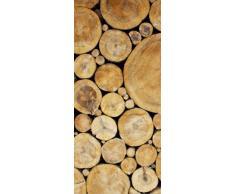 AG Design FTV 0228 Holzstapel, Papier Fototapete - 90x202 cm - 1 Teil, Papier, multicolor, 0,1 x 90 x 202 cm