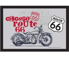 empireposter - Route 66 - Motorrad - Größe (cm), ca. 30x20 - Bedruckter Spiegel, NEU - Beschreibung: - Bedruckter Wandspiegel mit schwarzem Kunststoffrahmen in Holzoptik -