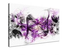 "LANA KK - Leinwandbild Stars Lila"" abstraktes Design auf Echtholz-Keilrahmen – Fotoleinwand-Kunstdruck in lila, einteilig & fertig gerahmt in 100x70cm"