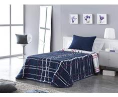 VIALMAN Tagesdecke, Blau, Bett 105 cm 200 x 270 cm, 5 Stück