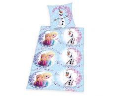 Herding 448050050412 Bettwäsche Walt Disneys Die Eiskönigin, Kopfkissenbezug: 80 x 80 cm und Bettbezug: 135 x 200 cm, 100% Baumwolle, Renforce