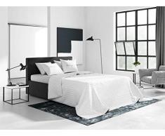 room99 Allzweckdecke Tagesdecke Steppdecke Bettüberwurf Kollektion Bueno Doppelseitig Gesteppt (Pure White, 200 x 220 cm)