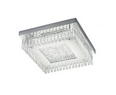 Reality Leuchten R62361800 Topas A+, LED Deckenleuchte, Metall, 18 watts, Integriert, Chrom, 36 x 11, 5 cm