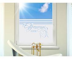 Graz Design 980118_90x57 Sichtschutzfolie Fenstertattoo Fensteraufkleber Deko für Badezimmer Entspannungszone Schrift Frau (Größe=90x57cm)