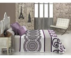 Textilia Misouri - Tagesdecke, Decke für das Bett, Lila 250 x 270 cm Lila