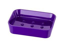 WENKO 20313100 Seifenablage Candy Purple - Seifenschale, Polystyrol, 12 x 2.8 x 8.9 cm, Lila