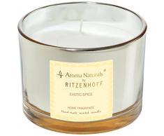 Ritzenhoff Aroma Naturals Luxury Duftkerze, Glas, Schwarz, Gelb, 11 x 11 x 8 cm