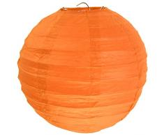 Laternen 50 cm 1 Stück orange- Papierlaternen Lampions Ballon Papierlampion Windlichter - 4314