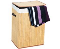 Kesper 19551 Wäschetruhe aus Bambus, eckig, Größe: 42 x 32 cm / Höhe: 60 cm