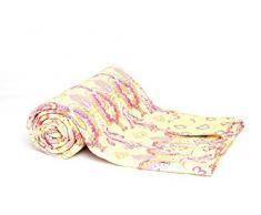 1001 Wohntraum N026 Quilt Diana, 225 x 235 cm, Plaid Tagesdecke, Patchwork Barock Shabby Decke