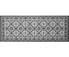 oKu-Tex Fußmatte | Schmutzfangmatte | Mosaik Muster Bunt | Deco-Style | Türvorleger für innen | rutschfest | grau/anthrazit | 45x75 cm