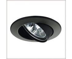 Paulmann 17951 Einbauleuchte Premium Line 51 mm Schwarz Einbaulicht schwenkbar Einbaulampe max. 1x50W 12V Einbauspot GU5,3 Einbaustrahler, Aluminium, GU5.3