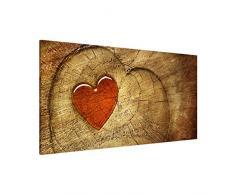Apalis 108795 Magnettafel Natural Love Memoboard Design Quer Metall Magnet Pinnwand Motiv Wand Stahl Küche Büro, 37 x 78 cm