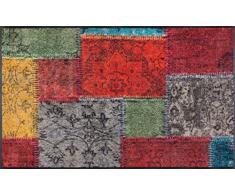 wash+dry Fußmatte Vintage Patches, 75x120 cm, innen und außen, waschbar, bunt