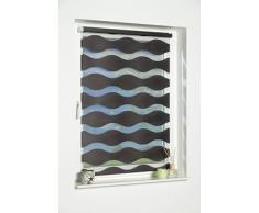 K-home Klemmfix Doppelrollo Welle ohne Bohren - Anthrazit 40 cm x 150 cm (B x L)