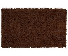 Gözze Teppich, 100% Baumwolle, Wollgarn-Hochfloroptik, 70 x 120 cm, Mocca, 1010-0893-72