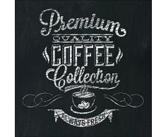 Pro-Art gla1011d Wandbild Glas-Art Premium coffee 20 x 20 cm