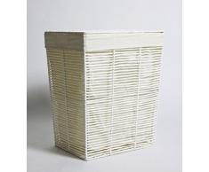Franz Müller Flechtwaren Wäschebehälter konisch, Groundwood Paper, Weiß, 41 x 31 x 50 cm