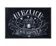 wash + dry 078982 Fußmatte Trautes Heim, 50 x 75 cm