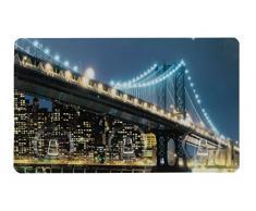 Wenko 4369905100 Static-Loc Hakenleiste Brooklyn Bridge - 3 Haken, Befestigen ohne bohren, Kunststoff, Mehrfarbig