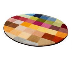 Kleine Wolke Cubetto Badteppich Polyacryl Mehrfarbig 90 x 90 cm